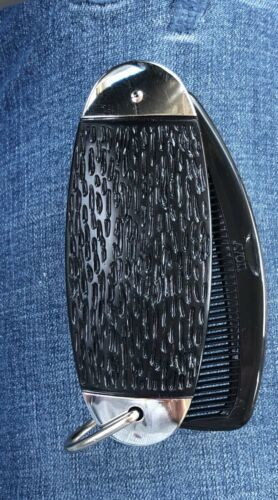 Vintage Avon Black Jackknife Jack Knife Comb Brush In Original Box