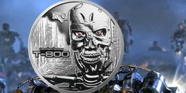 Terminator T-800 2 Oz .999 Silver Proof Round With COA & Individually Numbered