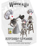 """""""Kitchen Gnomes"""" PDF Digital Cloth Doll Sewing Pattern By Norma Inkster  - $10.00"""