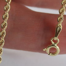 18K YELLOW GOLD BRACELET, BRAID ROPE LINK, 7.30 INCH LONG, MADE IN ITALY image 3