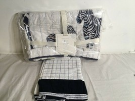 POTTERY BARN KIDS Prescott Zebra Crib Quilt And Crib Skirt - $37.79