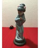 Lladro Figurine SAYONARA LADY GIRL JAPANESE GEISHA #4989 Retired Mint - $100.00