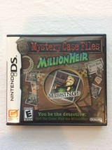 Mystery Case Files: MillionHeir (Nintendo DS, 2008) Complete & Tested - $7.95