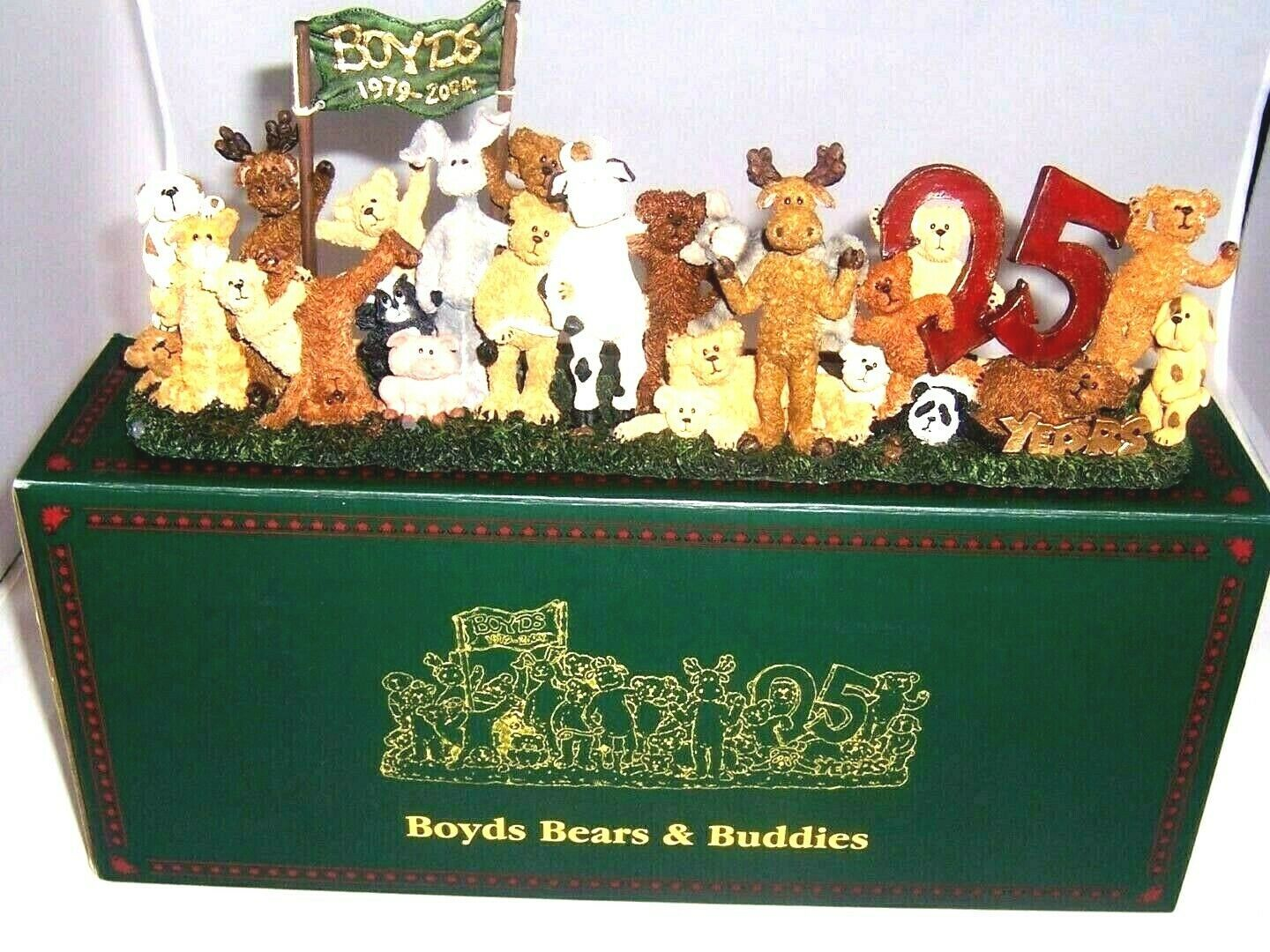 "Boyds Bearstone ""Boyds Bears & Buddies..25 Years & Counting"" #22844PAW-  2004"