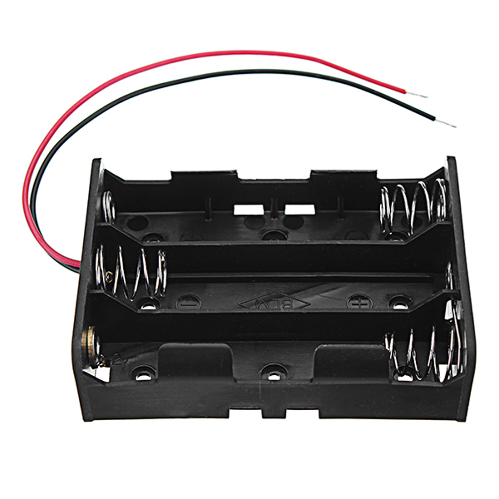 5pcs DC 11.1V 3 Slot 3 Series 18650 Battery Holder Box Case With 2 Leads And Spr