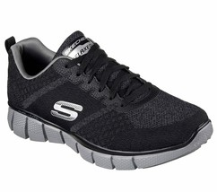 Skechers Black Extra Wide Fit Shoes Men Memory Foam Sporty Trail Hiking ... - $49.99