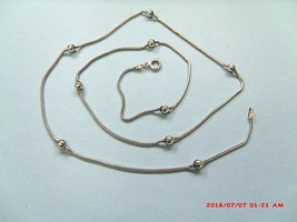 """Sterling Silver Vintage 21"""" Chain Saturn Or Satellite Marked Italy - $25.00"""