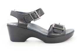 Dansko  Jamey Wedges Sandals Black  EU 40 Right  Metatarsal , Letf Neutral   ($) - $93.15