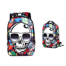 creative tide 3D skull pattern unisex students laptop travel sports back... - $26.00