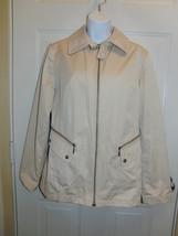 Dana Buchman Beige Zipper Jacket with Animal Print inside Size Medium - $14.99
