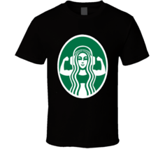 Starbucks Workout Muscles Funny  T Shirt - $17.99+
