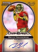 2006 Bowman Sterling Gold Rookie Autographs #BG Bruce Gradkowski Auto /900 - $8.25