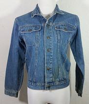 Tomorrows Generation Youth Jean Jacket Medium 12 14 Blue Denim Pockets V... - $24.99