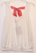 Lily Rose Juniors Knit Pink Polka Dot Back Tie Sleeveless Banded Bottom Top - $14.99