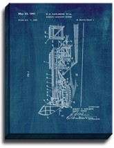Missile Launching System Patent Print Midnight Blue on Canvas - $39.95+