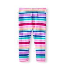 Wonder Nation Girls Tough Cotton Capri Leggings Size Large 10-12 Pink Stripes - $9.89