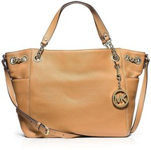 NWT MICHAEL KORS Jet Set Chain Item Large Pocket Leather Shoulder Bag Pe... - $210.92