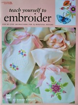 Teach Yourself to Embroider Leisure Arts Kooler Design Studio 15 Pretty Designs - $3.95