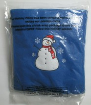 New Holiday Pillow Snowman Blue Holiday Decor Present - $7.00