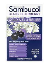 Sambucol Black Elderberry Cold & Flu Relief Tablets 30 ct - $13.85