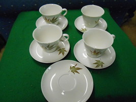 """Great Set of 4 FRANCISCAN Whitestone """"Twice Nice"""" CUPS & SAUCERS..1 FREE... - $19.12"""