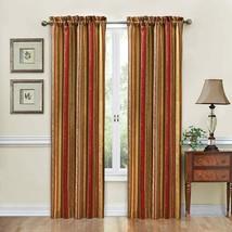 Waverly Stripe Ensemble 1 Curtain Panel Crimson 54x84 - $22.76