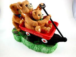 Teddy Bear Music Box Plays You light up my life San Francisco Music Box ... - $15.83