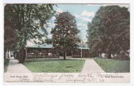North Shore Pavilion South Haven Michigan 1908 postcard - $5.94
