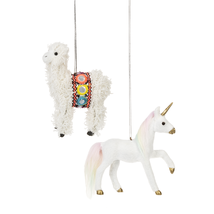 Llama or Unicorn Ornament - $13.95