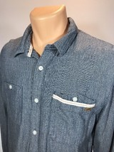 Vans Men's Long Sleeve Button FronT Shirt Size L 100% Cotton - $23.36