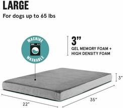 Barkbox Memory Foam Platform Dog Bed for Orthopedic Joint Relief, Size Large