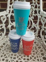 SUMMER Coffee Tumblers LOT OF 3 NEW FREE SHIPPING - $17.82