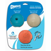 Canine Hardware Assorted Chuckit! Fetch Medley Balls Dog Toys 2.5 Inch/3... - £19.56 GBP