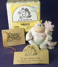 Precious Moments TO MY FAVORITE FAN Ape with Leaf Fan + Box Tags 521043 ... - $10.93