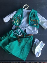 American Girl/ Pleasant Co. Green Girl Scout Uniform Set Retired Set wit... - $31.99