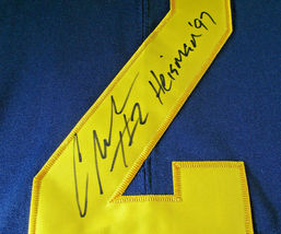 CHARLES WOODSON / AUTOGRAPHED MICHIGAN WOLVERINES BIG TEN PRO STYLE JERSEY / COA image 5