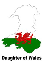 Daughter of Wales Welsh Country Map Flag Poster High Quality  - $6.90+