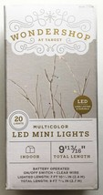 Wondershop Mini LED Fairy String Lights Blue Red Green and White Indoor NEW