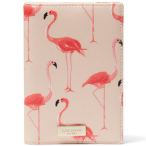 Kate Spade wlru2951 Shore Street Flamingo Print Passport Holder