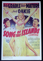 BETTY GRABLE VICTOR MATURE SONG OF THE ISLANDS + KING CONGO MOVIE AD POSTER - $14.49
