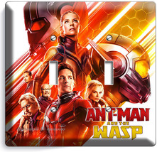 Ant Man And The Wasp Nano Superhero 2 Gang Light Switch Wall Plate Room Hd Decor - $11.69