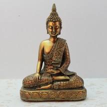 Vintage Golden Buddha Figurines Decoration Desktop Crafts Statue Ornamen... - €34,36 EUR