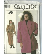 Simplicity Sewing Pattern 8311 Misses Womens Coat 2 Lengths Size SM M L ... - $14.99