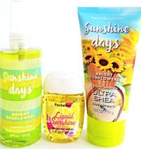Bath & Body Works Sunshine Days Body Cream, Body Spray & PocketBac Trave... - $19.18