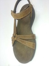 Skechers Shape Ups Dash Womens Brown Leather Ankle Strap Toning Sandals ... - $29.95