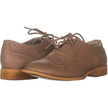 Wanted Babe Lace Up Oxfords 367, Taupe, 7 US - $15.35