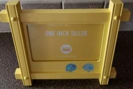 "Martha Stewart Everyday ""One Inch Taller"" Yellow Wooden Picture Frame 6""... - $15.84"