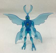 Ultimate Alien Stealth Big Chill Ben 10 Clear Blue Figure Bandai 2008 Complete - $29.65
