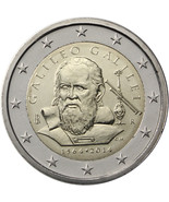 Italy 2014 UNC 450th Years since the Birth of Galileo Galilei, 2 euro coin, - €3,78 EUR