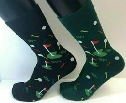 2 PAIRS Foozys Men's Socks PUTTING GOLF Green Black, NOP Ships Free - $8.09